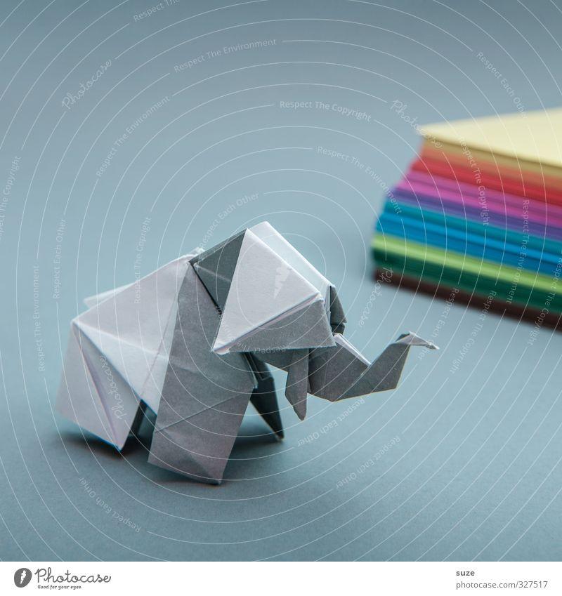 Papierjumbo Tier Spielen grau klein Kunst Freizeit & Hobby Design Dekoration & Verzierung ästhetisch niedlich einfach Papier Kreativität Idee Kitsch Asien