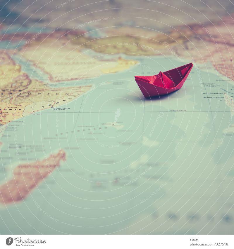 Weltreise Ferien & Urlaub & Reisen Meer rot Spielen Reisefotografie klein Wasserfahrzeug Erde Freizeit & Hobby Lifestyle niedlich Papier Kreativität Idee