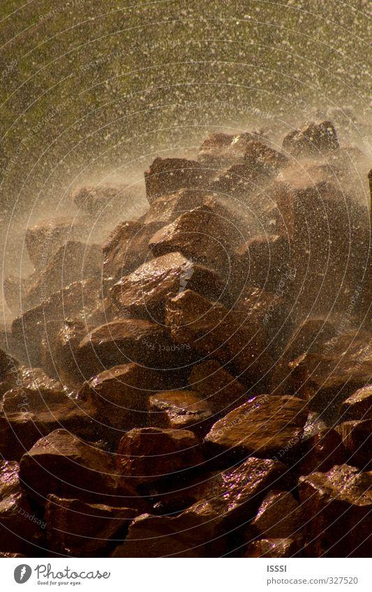 Geysir Andernach Natur Wasser Felsen ästhetisch Wassertropfen Urelemente Naturgewalt