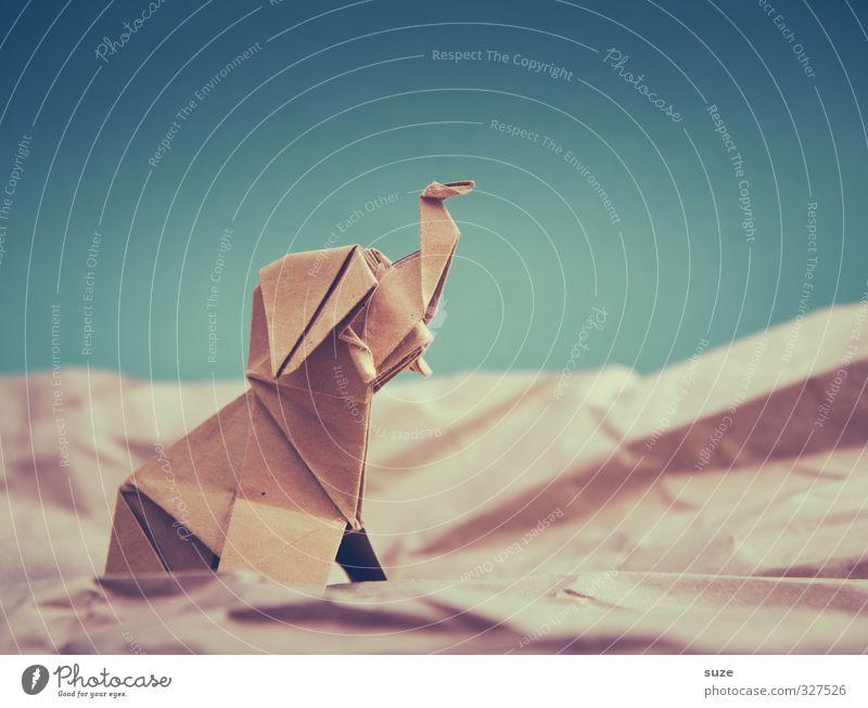 Der Papier Könich Design schön Freizeit & Hobby Basteln Dekoration & Verzierung Kunst Tier einfach Kitsch klein niedlich blau Gelassenheit geduldig Idee