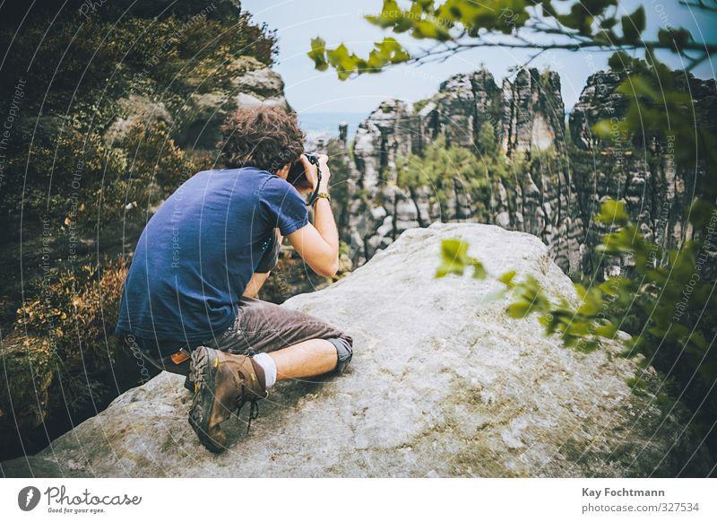 Wandertag n°2 Freude Ferien & Urlaub & Reisen Tourismus Ausflug Abenteuer Ferne Freiheit Berge u. Gebirge wandern maskulin Leben 1 Mensch 18-30 Jahre