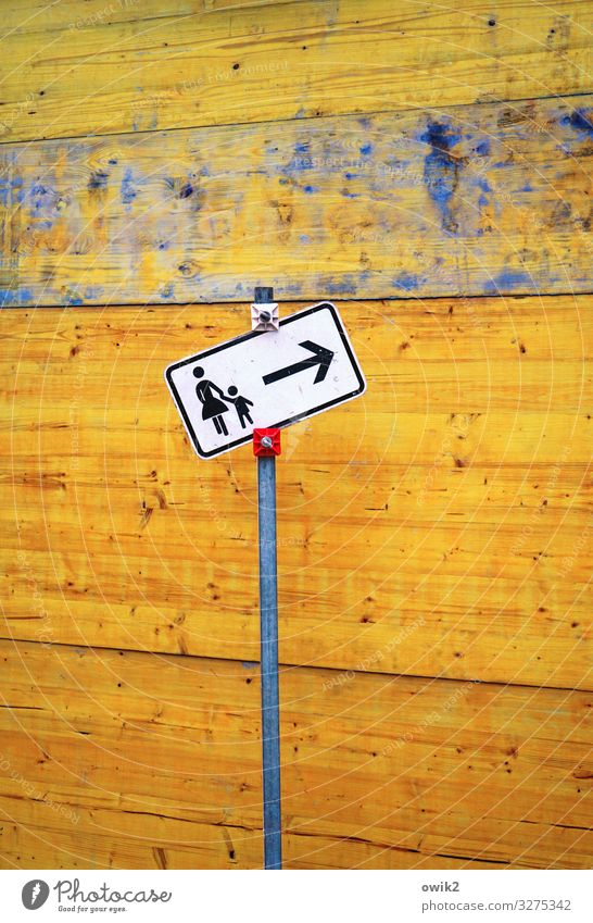 Wechselwirkung Baustelle Kind Mutter Erwachsene 2 Mensch Mauer Wand Verkehr Verkehrswege Personenverkehr Piktogramm Holz Metall Zeichen Schilder & Markierungen