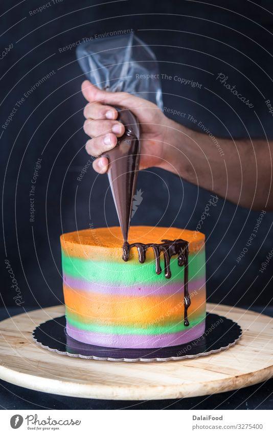 Kuchen Fur Halloween Mit Schokolade Ein Lizenzfreies Stock Foto Von Photocase