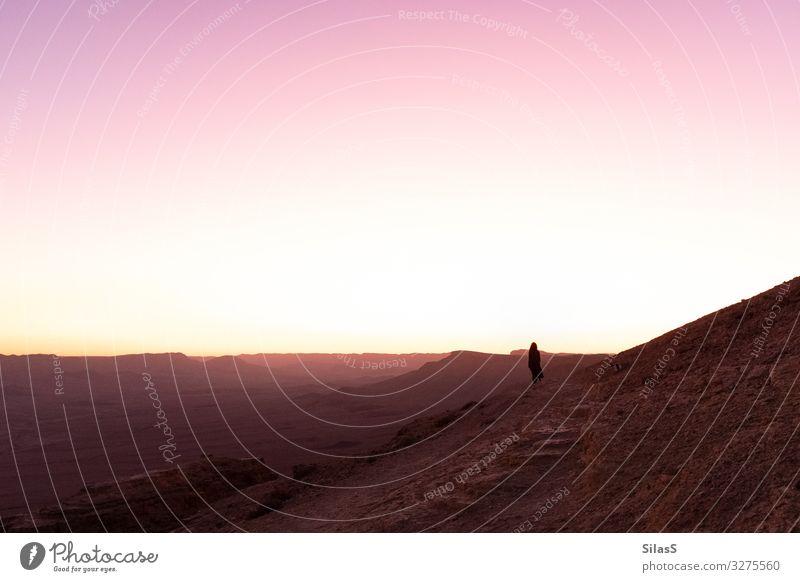 Negev 02 Himmel Natur Sonne Ferne Wärme Umwelt Felsen Sand wandern Erde Schönes Wetter Warmherzigkeit Hügel Urelemente Fernweh Wüste