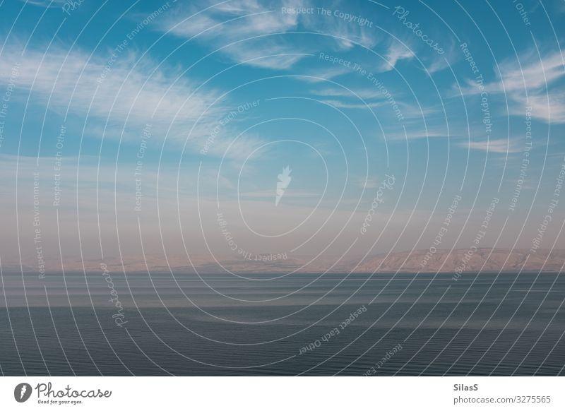 See Genezareth Israel Jordanien Natur Landschaft Wasser Himmel Wolken Hügel Berge u. Gebirge Wellen Seeufer blau braun ruhig Farbfoto Außenaufnahme Menschenleer