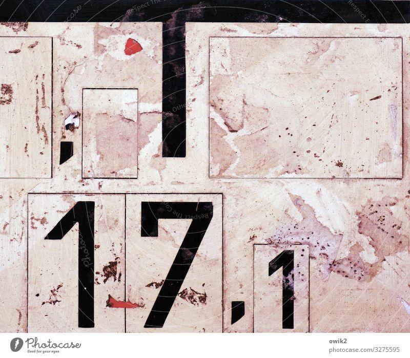Sub Rosa Kunststoff Ziffern & Zahlen Schilder & Markierungen Komma Stadt rosa rot schwarz Genauigkeit Präzision Zahn der Zeit unklar alt Spuren Farbfoto
