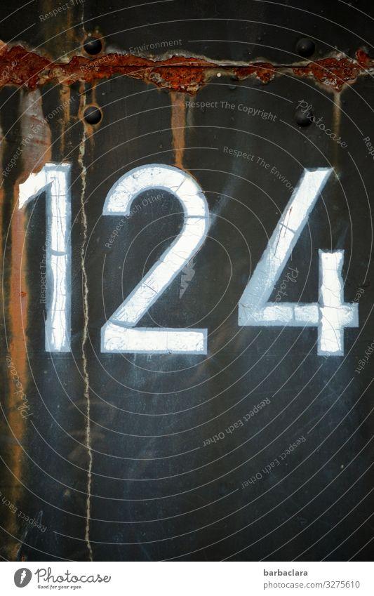 Geschriebenes | 124 alt blau Metall retro historisch Wandel & Veränderung Vergangenheit Zeichen Ziffern & Zahlen Rost Nostalgie Verkehrsmittel Oldtimer