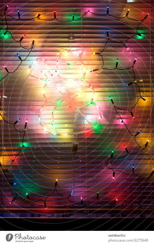 Lichterkette Weihnachten & Advent Beleuchtung Dekoration & Verzierung Fenster geschlossen Illumination Jalousie Party Partynacht Rollo Anti-Weihnachten