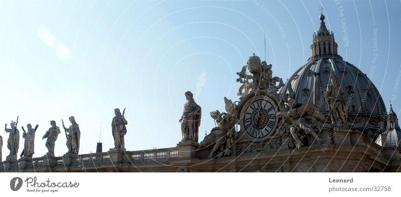 Statuen Skulptur Religion & Glaube Kuppeldach Italien Europa Dom Panorama (Aussicht) Gotteshäuser heilig Engel Rücken taktgeber church clock sculpture saint