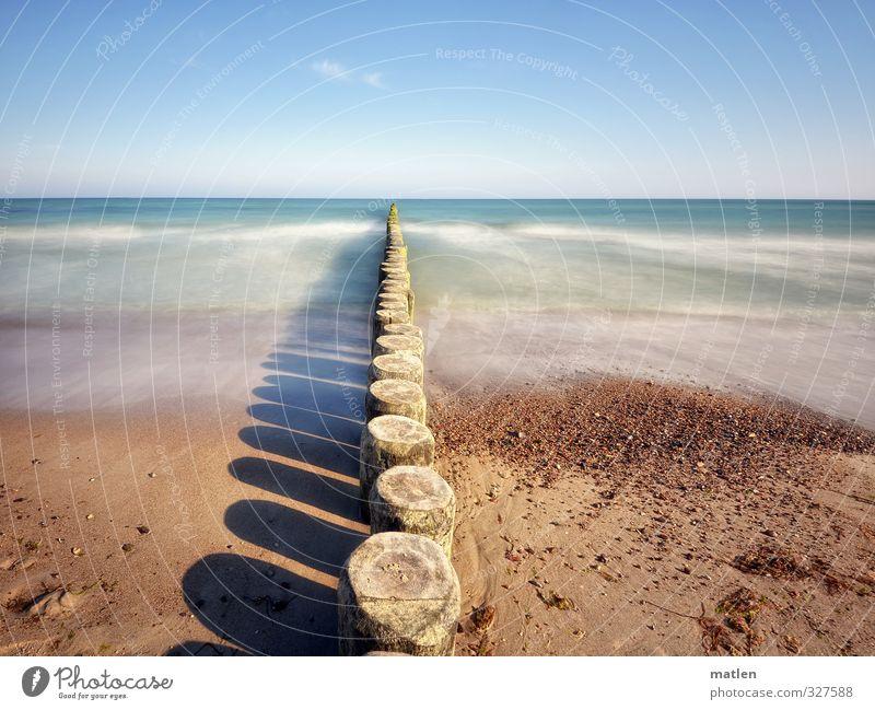 Ostmeer Himmel blau Wasser Sonne Landschaft Strand Küste Sand Horizont Luft braun Wetter Wellen Schönes Wetter Urelemente Ostsee