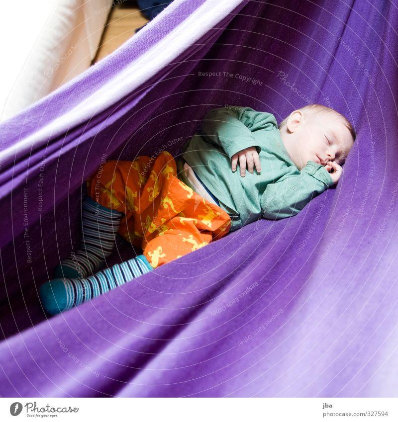 Erholung Mensch Kind Mädchen ruhig feminin Glück klein träumen liegen Kindheit Zufriedenheit Baby schlafen niedlich Sicherheit