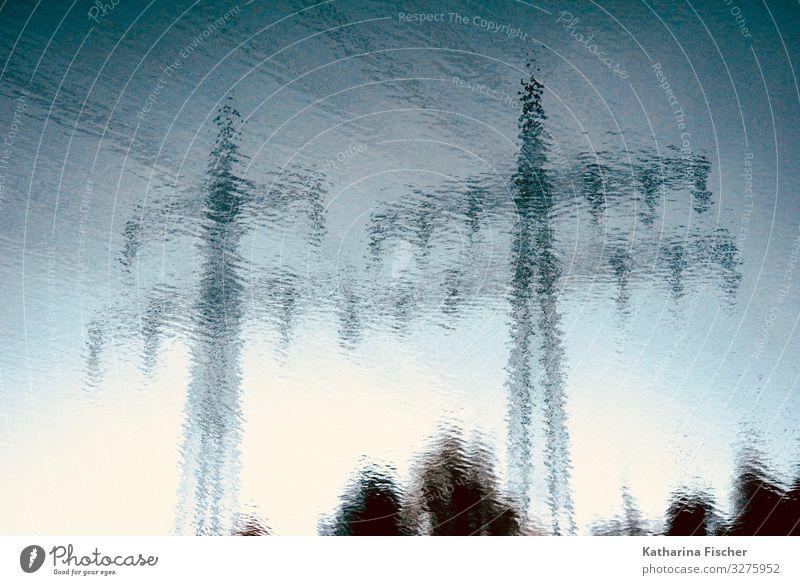 unter Strom / Strommasten / Energie Himmel Sommer blau weiß Winter schwarz Herbst Umwelt Frühling grau Energiewirtschaft Technik & Technologie Elektrizität