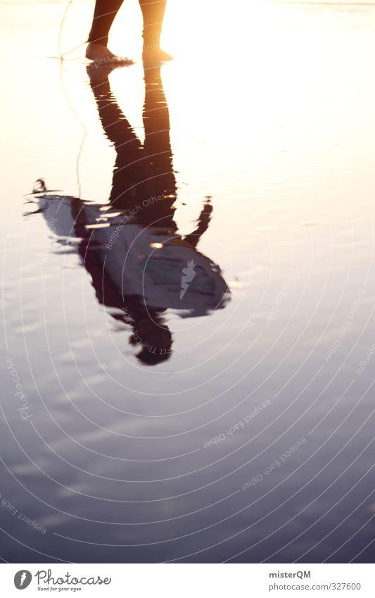 Golden Shadows. Lifestyle elegant Stil Design exotisch Freude Freizeit & Hobby Kunst ästhetisch Zufriedenheit Surfen Surfer Surfbrett Surfschule Meer