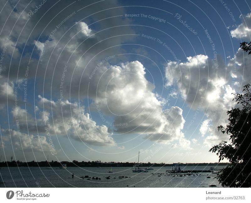 Wolken2 Meer Strand Wasserfahrzeug Baum Himmel Island cloud sky sea tree