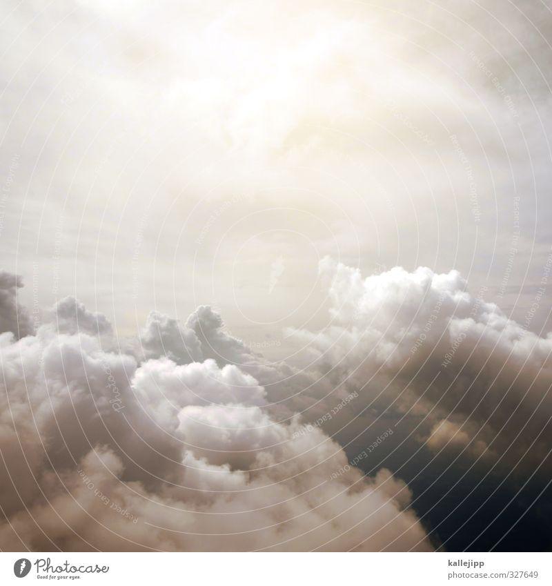 panoramafreiheit Wolken fliegen Flugzeugfenster Panorama (Aussicht) Himmel (Jenseits) Religion & Glaube Gott Freiheit Farbfoto Außenaufnahme Menschenleer Licht