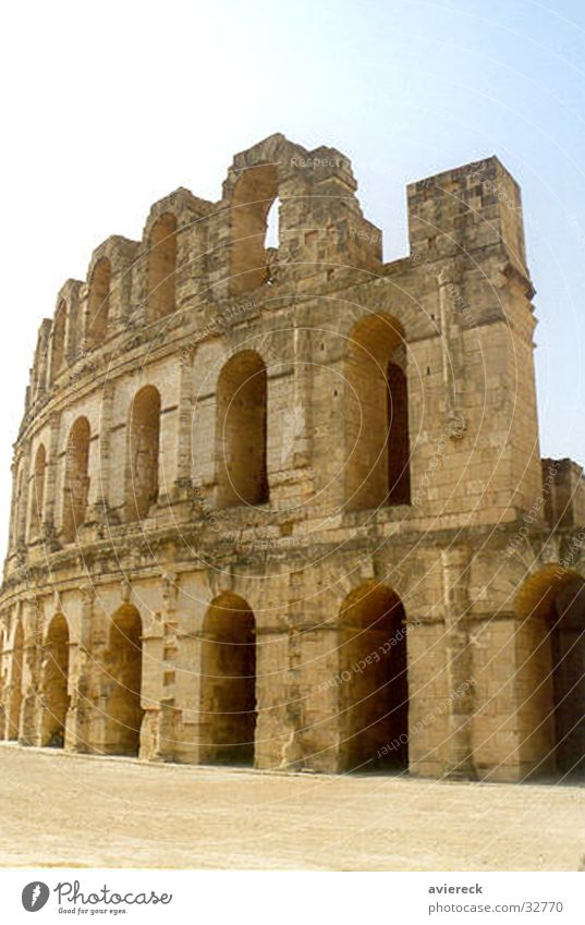 Sfax Gebäude Architektur Italien Theater historisch Rom Römerberg Tunesien Kolosseum