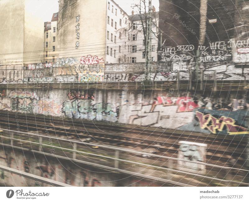 Berlin - du bist so wunderbar Kunst Künstler Maler Kunstwerk Architektur Kultur Jugendkultur Subkultur Stadt Verkehr Verkehrsmittel Verkehrswege Personenverkehr