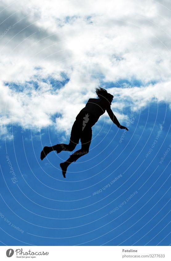1500 Freudensprünge Mensch maskulin Mann Erwachsene Körper Haare & Frisuren Arme Hand Beine Fuß Himmel Wolken Schönes Wetter frei hell Wärme fliegen springen