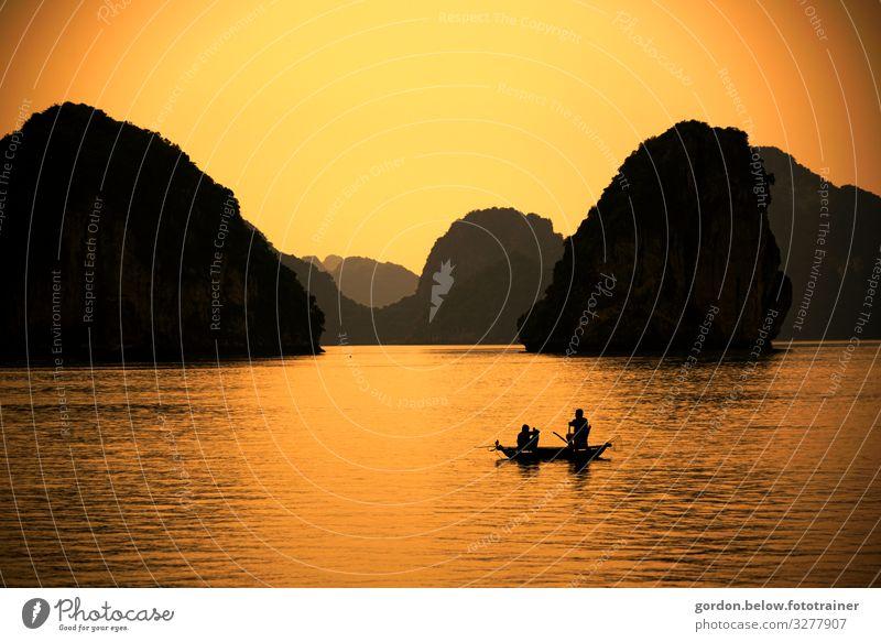 #Vietnam Halong Bucht Himmel Ferien & Urlaub & Reisen Natur Sommer Pflanze Wasser Meer Glück Stein Ausflug Zufriedenheit Freizeit & Hobby Abenteuer Urelemente