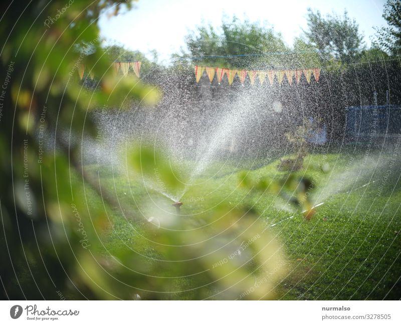 Es war einmal sehr heiss. . . Lifestyle Fitness Sport-Training Wasser Wassertropfen Klima Klimawandel Wetter Regen Garten Park Haus natürlich Sauberkeit rasen