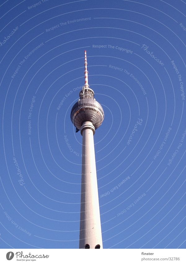 Fernsehturm Himmel Berlin Freizeit & Hobby Ohr Fernsehen Alexanderplatz