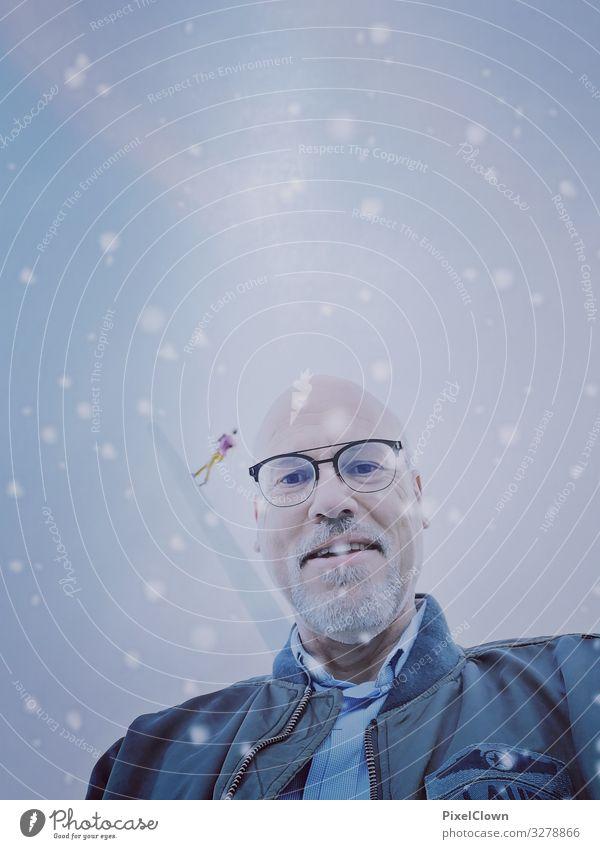 Sternenwanderer Lifestyle Stil Freude Medienbranche Mensch maskulin Mann Erwachsene Gesicht 1 45-60 Jahre Kunst Haare & Frisuren lachen Blick verrückt schön