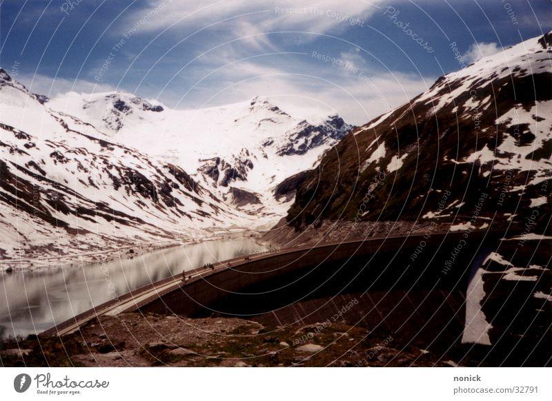 Kaprun Wasser Wolken Schnee Berge u. Gebirge Staumauer