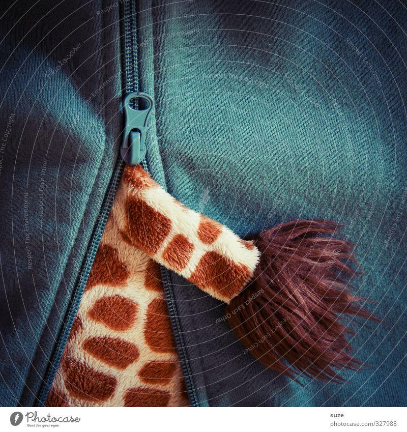 Wo klemmts denn eigentlich? Lifestyle Freizeit & Hobby Spielen Bekleidung Jacke Stoff Stofftiere außergewöhnlich lustig niedlich grün skurril Reißverschluss