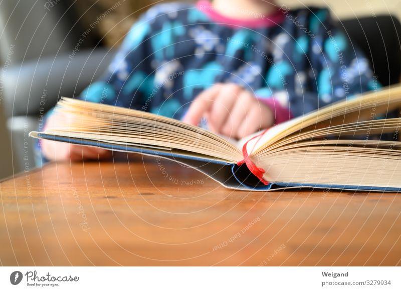 Lesestart Kindererziehung Bildung Kindergarten Schule lernen Klassenraum Kleinkind Mädchen Kindheit 3-8 Jahre lesen Buch Geschichtsbuch Farbfoto Innenaufnahme