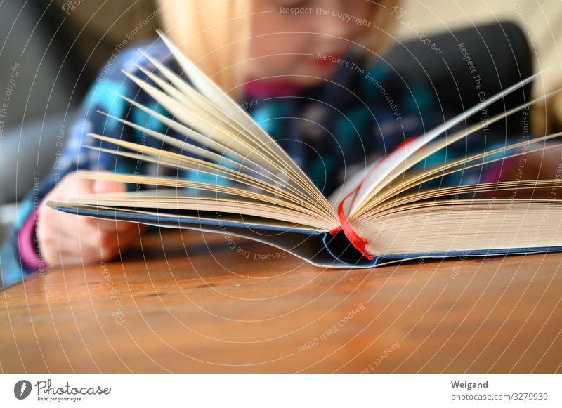 Lesestart Kindererziehung Bildung Kindergarten Schule lernen Klassenraum Schulkind Mädchen Kindheit 1 Mensch 3-8 Jahre lesen Neugier Interesse Hoffnung Buch