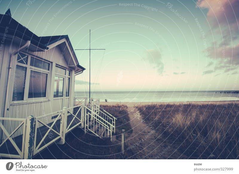 Kein Tag Meer ohne Himmel Natur Ferien & Urlaub & Reisen alt Einsamkeit Landschaft kalt Küste Wege & Pfade authentisch Aussicht einfach fantastisch Sicherheit