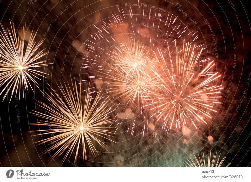 Luxury fireworks event sky show with colour big bang stars Lifestyle Freizeit & Hobby Nachtleben Entertainment Party Veranstaltung Silvester u. Neujahr