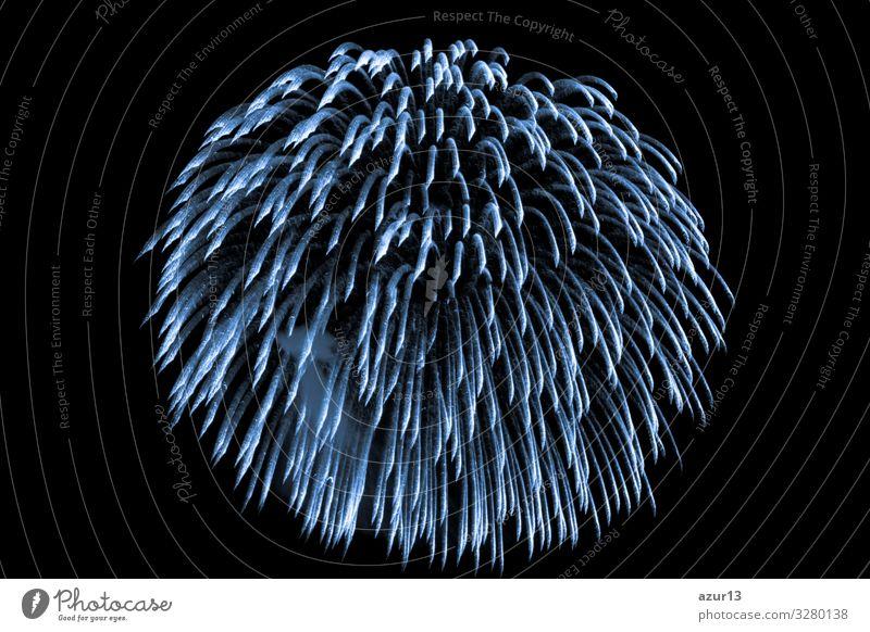 Luxury beautiful blue fireworks event sky shower Lifestyle Freizeit & Hobby Nachtleben Entertainment Party Veranstaltung Feste & Feiern Silvester u. Neujahr