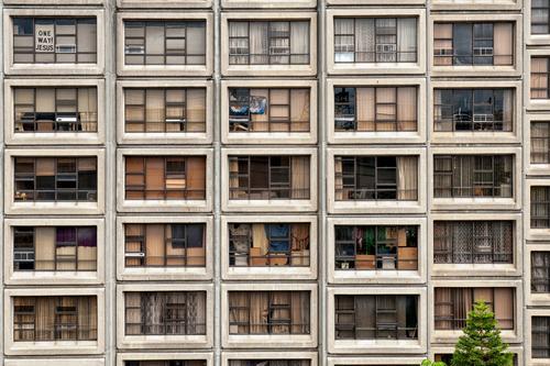 Käfighaltung im Sirius Building Städtereise Häusliches Leben Wohnung Sydney Hafenstadt Stadtzentrum Hochhaus Bauwerk Gebäude Architektur Fassade Fenster