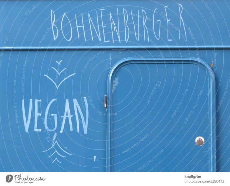 BOHNENBURGER Lebensmittel Ernährung Verkaufswagen Schriftzeichen Essen Kommunizieren authentisch Gesundheit trendy lecker nachhaltig blau weiß Gefühle