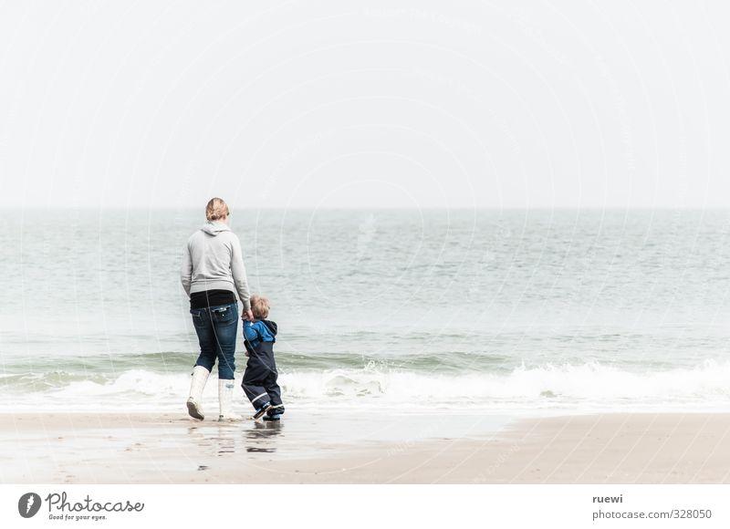 Seaside Zufriedenheit Freizeit & Hobby Spielen Ferien & Urlaub & Reisen Tourismus Ausflug Sommer Sommerurlaub Strand Meer Wellen Mensch maskulin feminin Kind