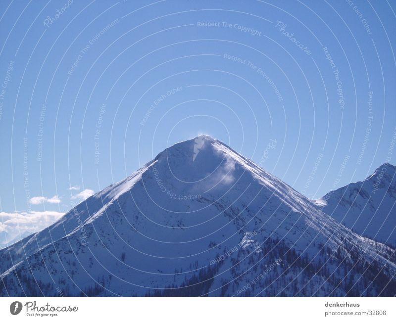 Der Schneeberg Einsamkeit Berge u. Gebirge Bergland Mountain blau Himmel Alpen schön
