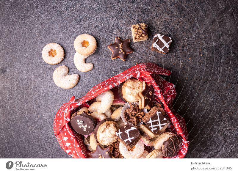 verschiedene Kekse in Keksdose Lebensmittel Teigwaren Backwaren Süßwaren Schokolade Ernährung Feste & Feiern Weihnachten & Advent Silvester u. Neujahr Küche