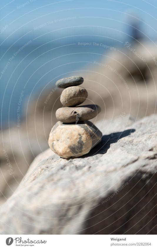 Balance schön Gesundheit Gesundheitswesen Wellness harmonisch Wohlgefühl Zufriedenheit Sinnesorgane Erholung ruhig Meditation Küste Seeufer Flussufer Strand
