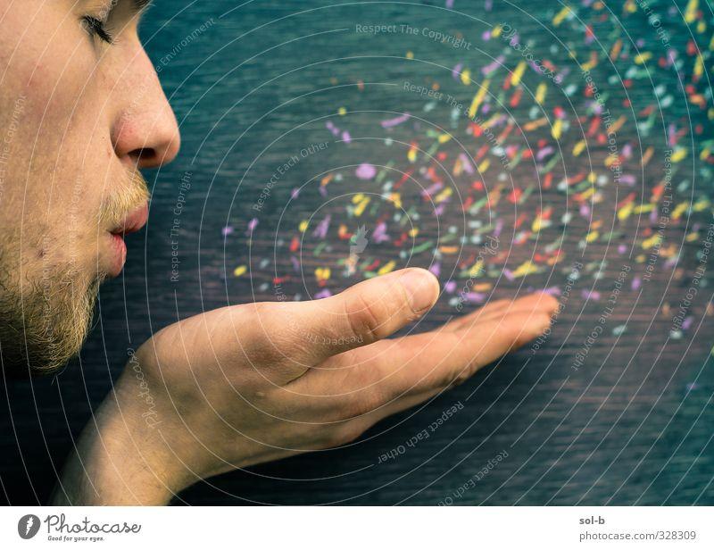 Jakob Mensch maskulin Junger Mann Jugendliche Gesicht Bart Hand 1 18-30 Jahre Erwachsene Kunst Kunstwerk Luft Wind Coolness exotisch fantastisch frei