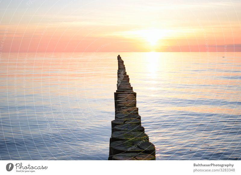 Sonnenuntergang auf Hiddensee (2) Ferien & Urlaub & Reisen Ferne Freiheit Sommer Sommerurlaub Meer Insel Umwelt Natur Urelemente Wasser Himmel Wolken