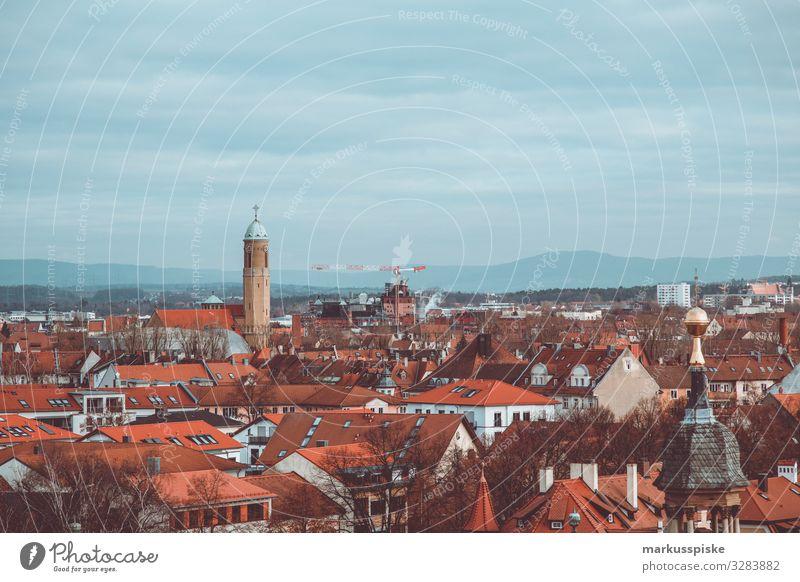 Blick vom Kloster Michelsberg Bamberg Lifestyle Freizeit & Hobby Ferien & Urlaub & Reisen Tourismus Ausflug Freiheit Sightseeing Oberfranken Bayern Stadt Haus