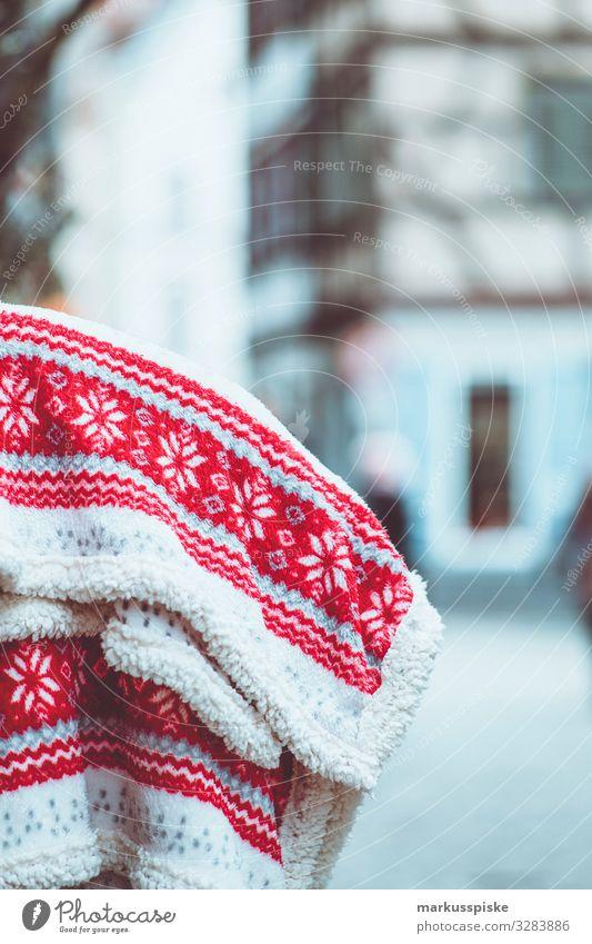 Wolldecke mit Norweger Muster Freude Lifestyle Leben Gefühle Stil Design Zufriedenheit elegant Fröhlichkeit Lebensfreude genießen kaufen beobachten Wellness