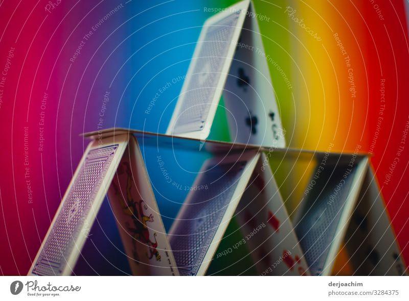 Karten Spielerei / Architektur Design harmonisch Spielen Kartenspiel Spielkarte Schönes Wetter Zimmerer Bayern Deutschland Bauwerk Fassade Papier Sammlung