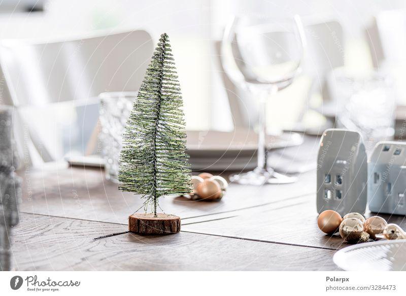 Weihnachtsschmuck mit einem Weihnachtsbaum Abendessen Reichtum elegant Stil Winter Dekoration & Verzierung Tisch Feste & Feiern Weihnachten & Advent