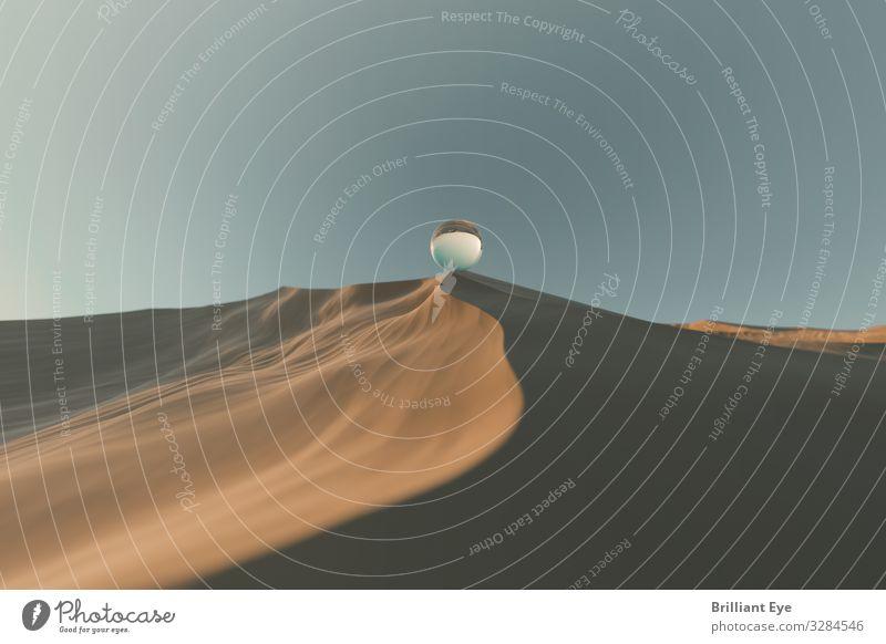 Balance Ferien & Urlaub & Reisen Natur Sommer ruhig Wärme außergewöhnlich braun Sand oben Schönes Wetter einfach Hügel Symbole & Metaphern Wüste Partnerschaft