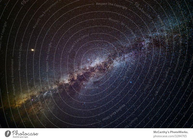 Milchstraße und Mars Wissenschaften Raumfahrt Natur Landschaft Himmel nur Himmel Wolkenloser Himmel Nachthimmel Stern Weltall Milchstrasse dunkle Materie