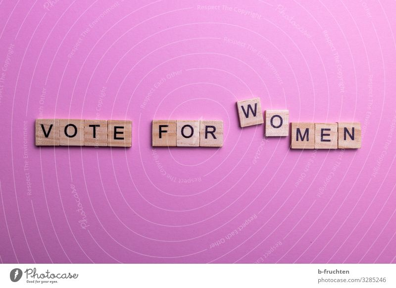 vote for women Bildung Erwachsenenbildung Wirtschaft Business feminin Frau Kultur Papier Dekoration & Verzierung Zeichen Schriftzeichen Denken sprechen lesen