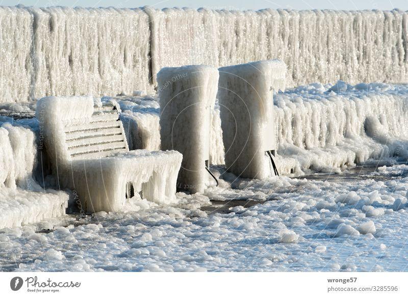 Winter an der See II Ostsee Insel Rügen Sassnitz Deutschland Europa Kleinstadt Menschenleer Hafen kalt maritim braun grau weiß Eis Eiszapfen Eisschicht gefroren