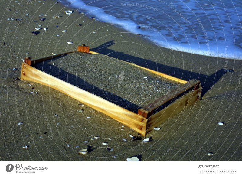 Strandkorb Meer Strand Sand Freizeit & Hobby Kiste Strandkorb Korb Strandgut Obstkiste